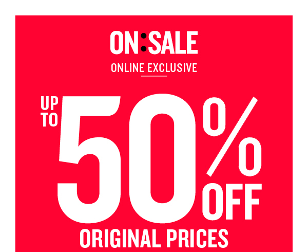 Save up to 50% off original prices + free standard shipping on orders of over $55 at Cotton On.